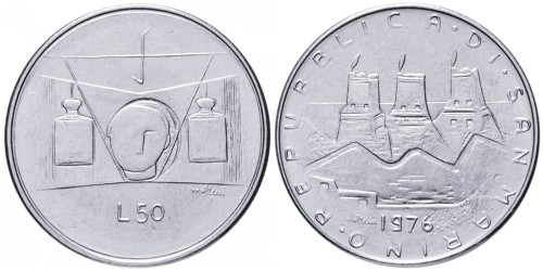 50 лир 1976 Сан-Марино — Республика UNC