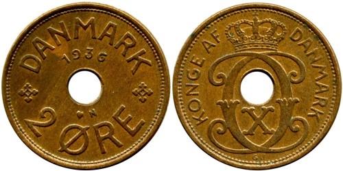 2 эре 1936 Дания