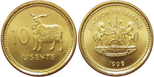 10 лисенте 1998 Лесото UNC