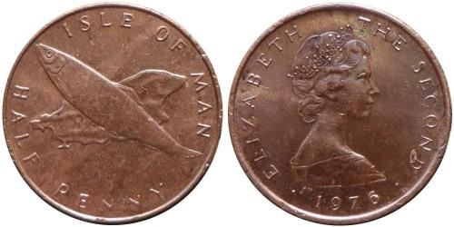 ½ пенни 1976 остров Мэн