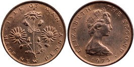 ½ пенни 1975 остров Мэн