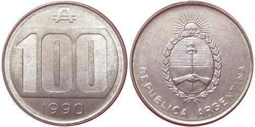 100 аустралей 1990 Аргентина