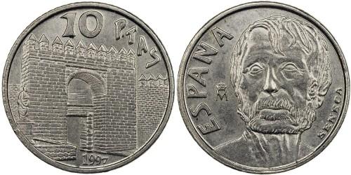 10 песет 1997 Испания — Сенека
