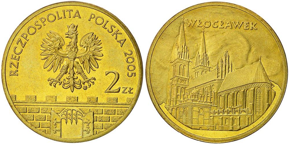 2 злотых 2005 Польша — Древние города Польши — Влоцлавек