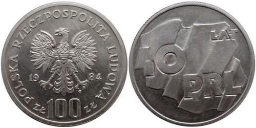 100 злотых 1984 Польша — 40 лет образования Польской Народной Республики