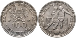 100 эскудо 1986 Португалия — Чемпионат мира по футболу 1986, Мексика