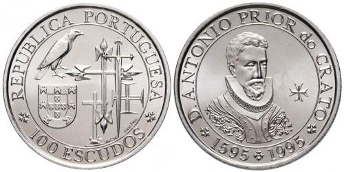 100 эскудо 1995 Португалия — 400 лет со дня смерти приора Антонио из Крату