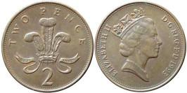 2 пенса 1993 Великобритания