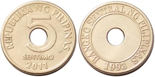 5 сентимо 2011 Филиппины