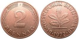 2 пфеннига 1972 «F» ФРГ