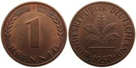 1 пфенниг 1950 «F» ФРГ