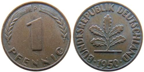 1 пфенниг 1950 «D» ФРГ