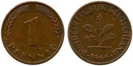 1 пфенниг 1966 «J» ФРГ