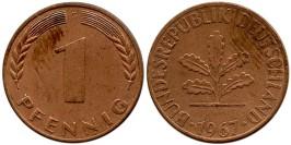 1 пфенниг 1967 «G» ФРГ