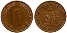 1 пфенниг 1969 «J» ФРГ