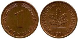 1 пфенниг 1971 «D» ФРГ