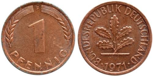 1 пфенниг 1971 «F» ФРГ