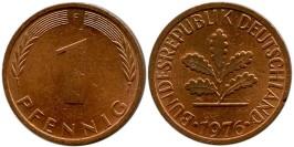 1 пфенниг 1976 «F» ФРГ