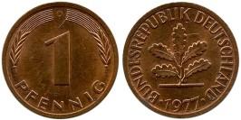 1 пфенниг 1977 «D» ФРГ