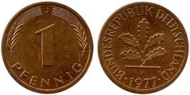 1 пфенниг 1977 «J» ФРГ