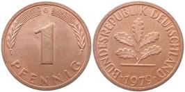 1 пфенниг 1979 «G» ФРГ