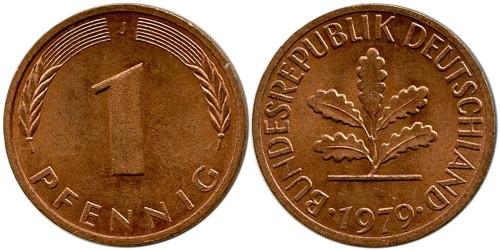 1 пфенниг 1979 «J» ФРГ