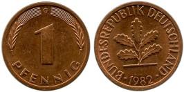 1 пфенниг 1982 «G» ФРГ