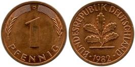 1 пфенниг 1982 «D» ФРГ