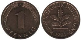 1 пфенниг 1994 «A» ФРГ