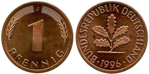 1 пфенниг 1996 «J» Германия