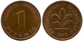 1 пфенниг 1989 «G» ФРГ