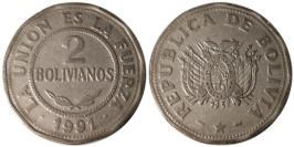 2 боливиано 1991 Боливия