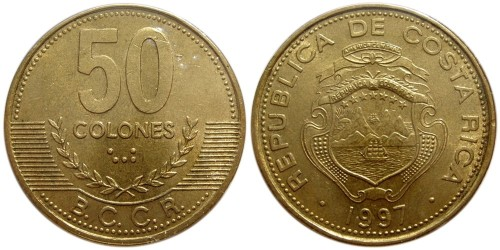 50 колон 1997 Коста Рика