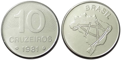 10 крузейро 1981 Бразилия