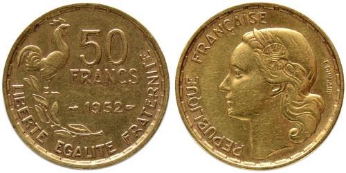 50 франков 1952 Франция — Без отметки монетного двора