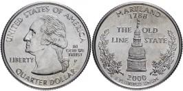 25 центов 2000 P США — Мэрилэнд — Maryland UNC