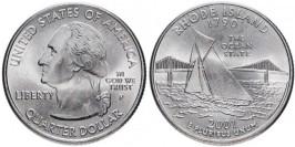 25 центов 2001 P США — Род-Айленд — Rhode Island UNC