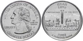 25 центов 2007 Р США — Юта — Utah