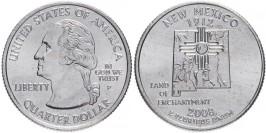 25 центов 2008 P США — Нью-Мексико — New Mexico