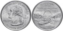 25 центов 2003 P США — Миссури — Missouri UNC