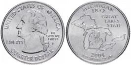 25 центов 2004 P США — Мичиган — Michigan