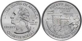 25 центов 2009 P США — Пуэрто-Рико — Puerto rico