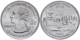 25 центов 2005 P США — Миннесота — Minnesota
