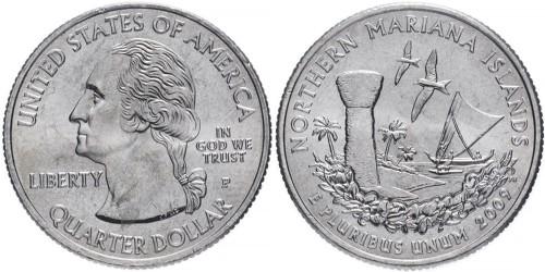 25 центов 2009 P США — Северные Марианские острова — Northern Mariana Islands UNC