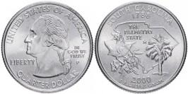 25 центов 2000 P США — Южная Каролина — South Carolina UNC