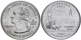 25 центов 2006 P США — Небраска — Nebraska UNC