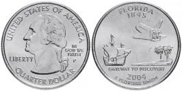 25 центов 2004 P США — Флорида — Florida UNC