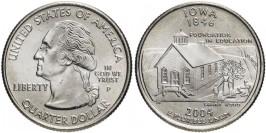 25 центов 2004 P США — Айова — Iowa UNC