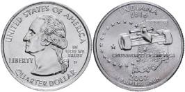 25 центов 2002 D США — Индиана — Indiana UNC
