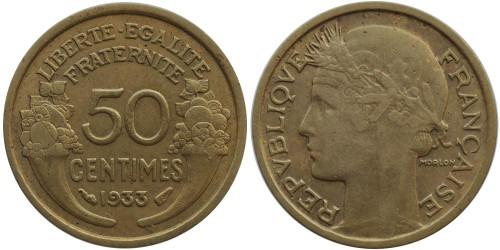 50 сантимов 1933 Франция